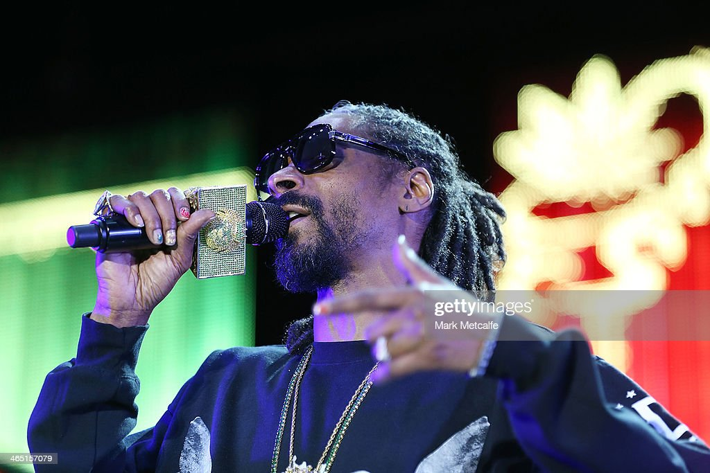 Snoop Lion performs live for fans at the 2014 Big Day Out Festival on January 26, 2014 in Sydney, Australia.