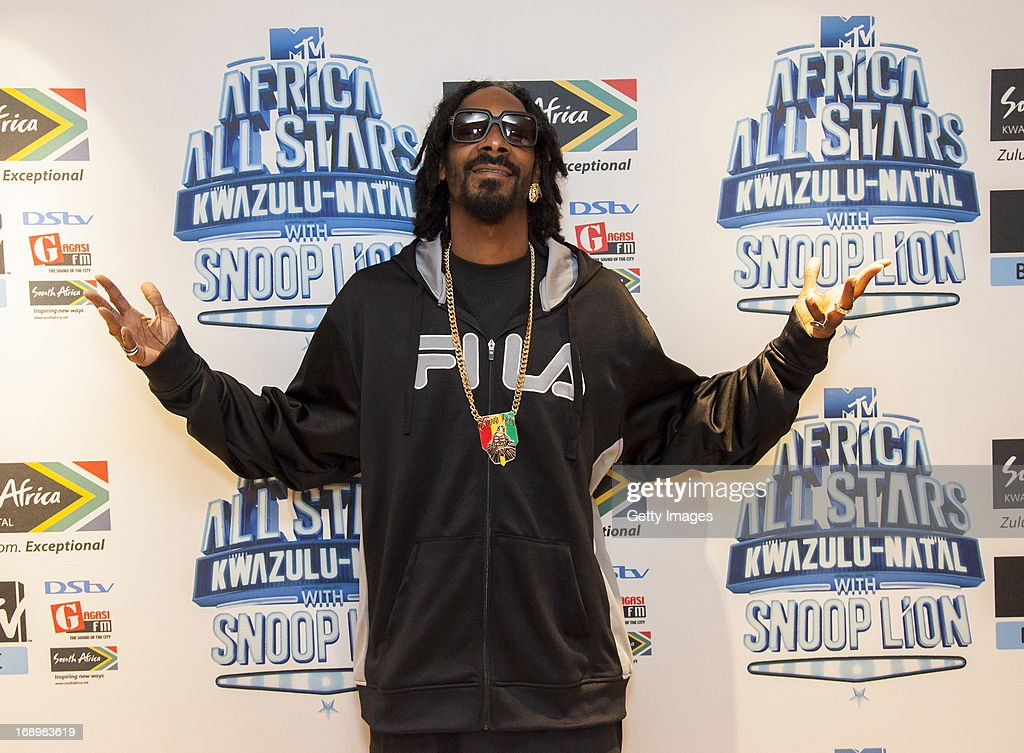Snoop Lion pictured at the press conference for MTV Africa All Stars KwaZulu-Natal with Snoop Lion at Beverly Hills Hotel on May17, 2012 in Durban, South Africa.