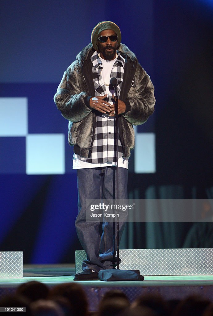 Snoop Lion speaks onstage at the Third Annual Hall of Game Awards hosted by Cartoon Network at Barker Hangar on February 9, 2013 in Santa Monica, California. 23270_003_JK_0656.JPG