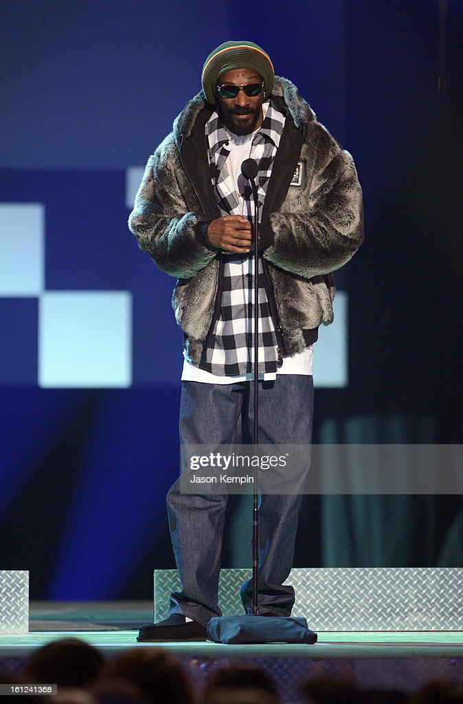 Snoop Lion speaks onstage at the Third Annual Hall of Game Awards hosted by Cartoon Network at Barker Hangar on February 9, 2013 in Santa Monica, California. 23270_003_JK_0648.JPG