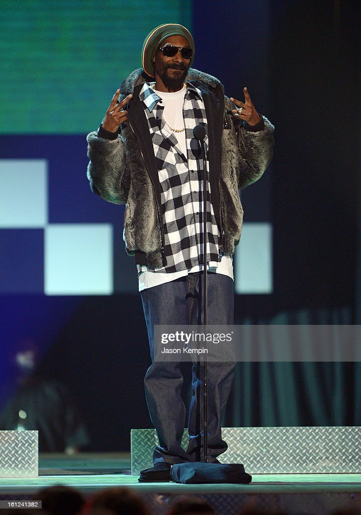 Snoop Lion speaks onstage at the Third Annual Hall of Game Awards hosted by Cartoon Network at Barker Hangar on February 9, 2013 in Santa Monica, California. 23270_003_JK_0641.JPG