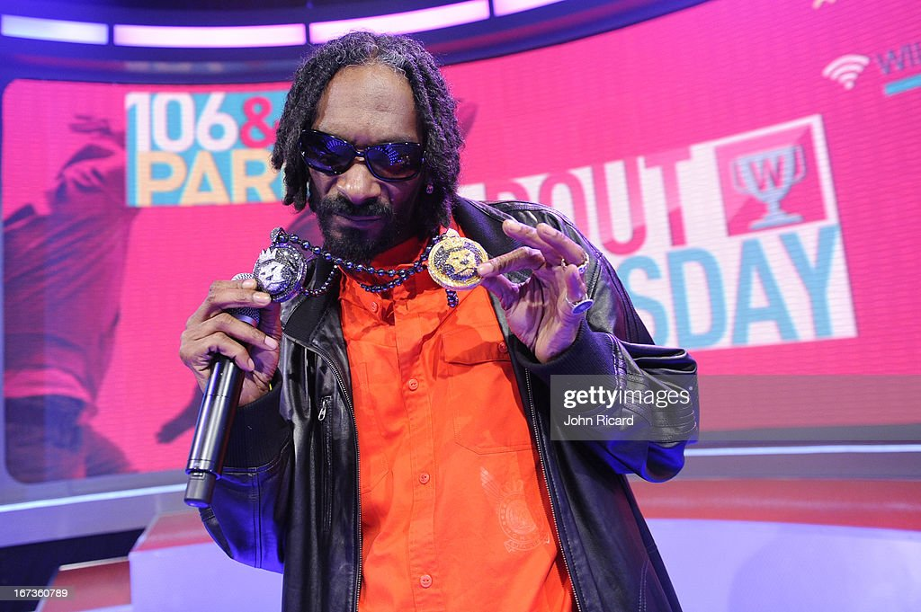 Snoop Lion visits BET's '106 & Park' at BET Studios on April 24, 2013 in New York City.