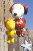 Snoopy and Woodstock Balloons in Macy's Thanksgiving Day Parade New York City New York