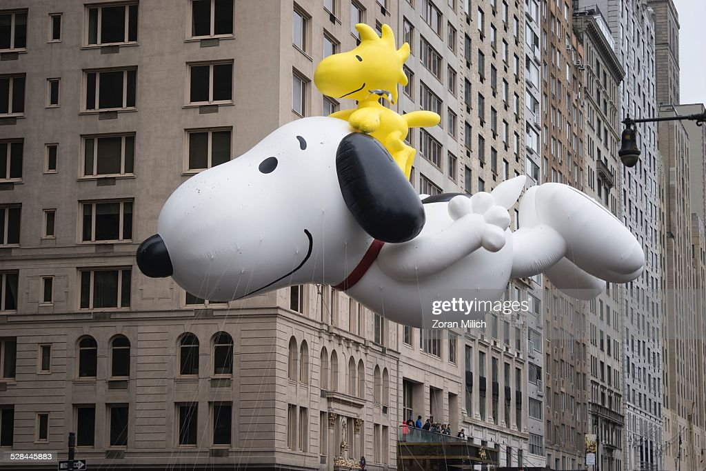 Snoopy balloon at the Macy's 2014 88th Thanksgiving Day Parade The Manhattan Borough of New York New York USA