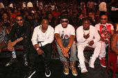 Snootie Wild Yo Gotti JDoe OT Genasis and Spliff Star attend the BET Hip Hop Awards 2014 at Boisfeuillet Jones Atlanta Civic Center on September 20...