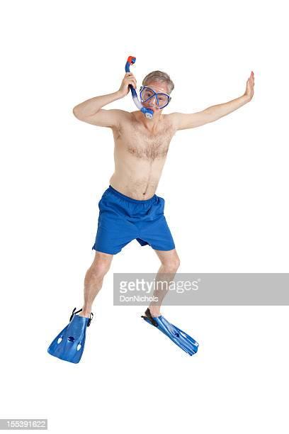 Homme de plongée avec masque et tuba