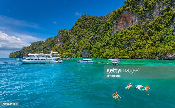 Snorkeling at Phi phi island. Thailand