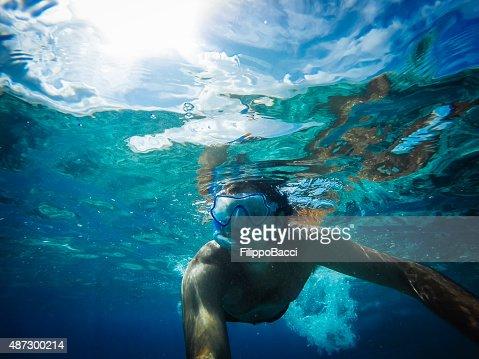 Snorkeling Selfie In The Sea