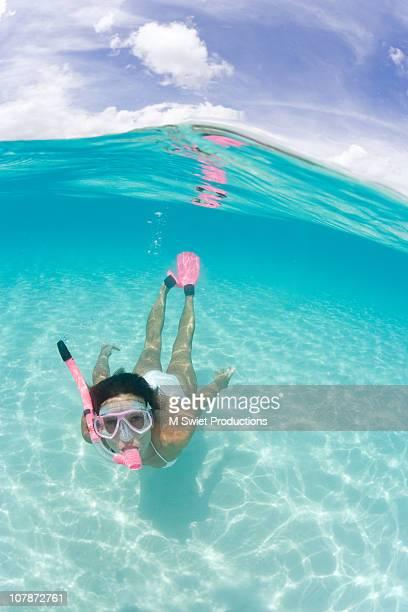 Snorkeling woman