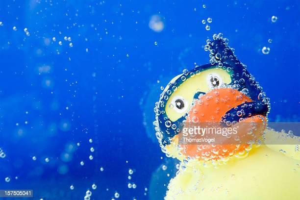 Snorkling rubber duck