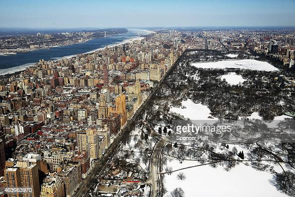 Snow and ice covers Central Park on a frigidly cold day February 20 2015 in New York City New York and much of the East Coast and Western United...