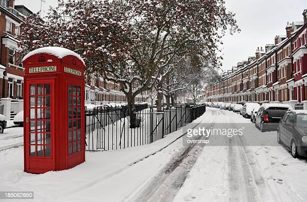 Schnee und Telefon box