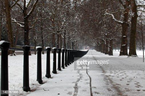 Snow at London : Stock Photo
