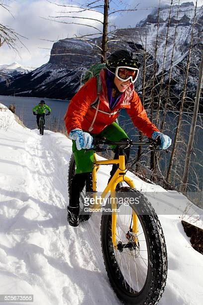 Snow Biking Couple