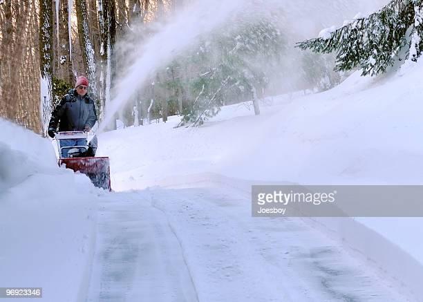 Snow Blasen Mann