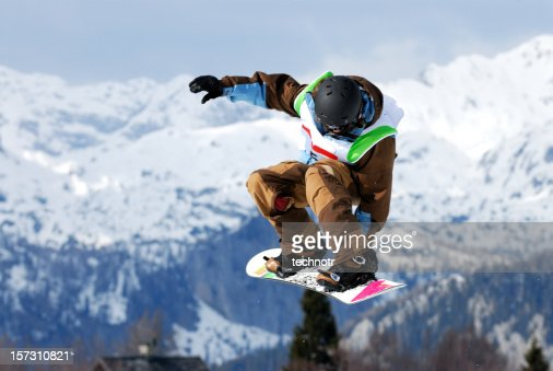 Snow board competition