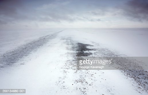 Snow covered air field : Stock Photo