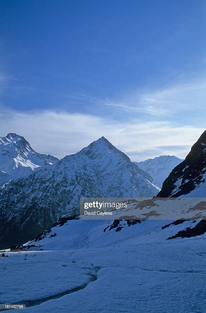 Snow covered Alps : Stock Photo