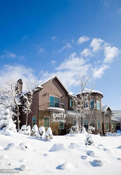 Schneebedeckte House