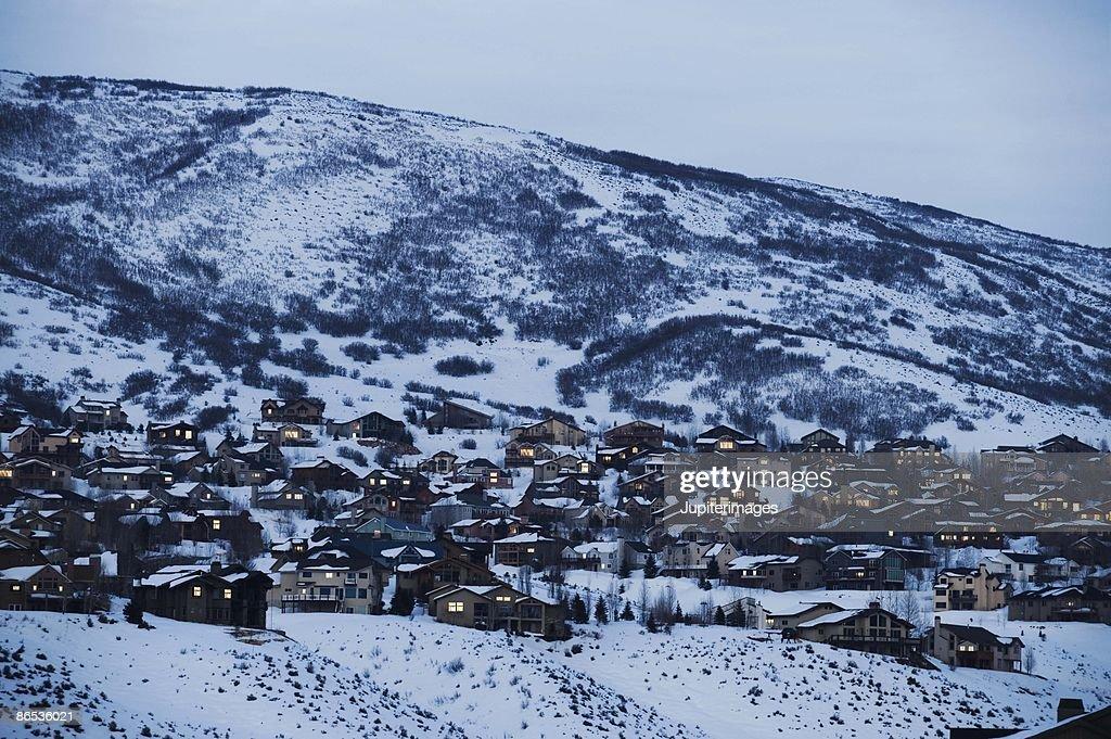 Snow covered landscape, Park City, Utah