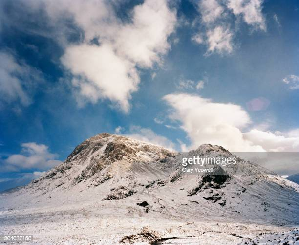 Snow covered mountain landscape in Sclotland