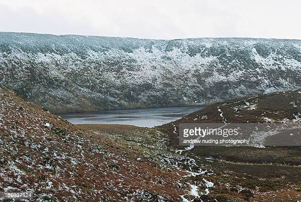 Snow covered Mountains in Wicklow, Ireland