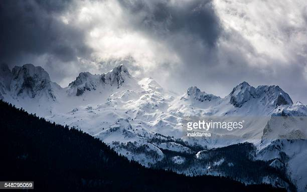 Snow covered mountains, Lescun, Pyrenees, France