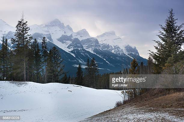 Snow covered mountains of the Canadian Rockies