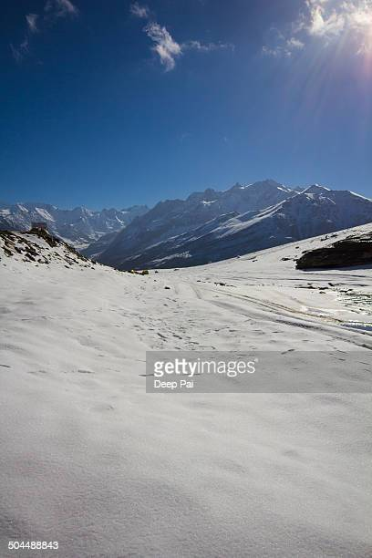 Snow covered Rohtang Top