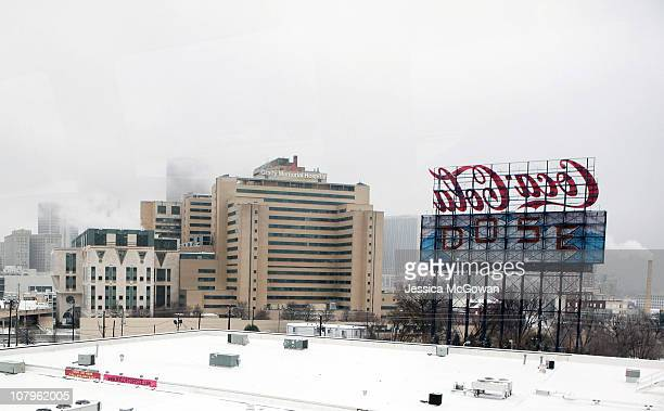 Snow covered roof tops of the downtown area are seen after a snow storm on January 10 2011 in Atlanta Georgia Atlanta Mayor Kasim Reed and Georgia...