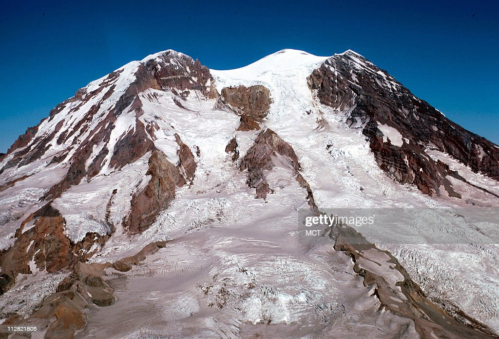 Snow covers Mount Rainier, Washington, in this U.S. Geological Service file photo.