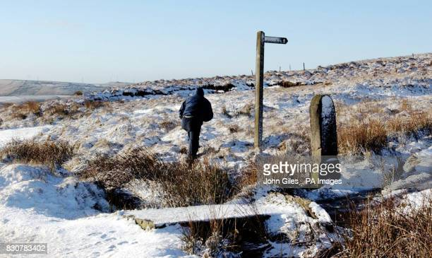 Snow covers Saddleworth Moor after Moors murderer Ian Brady said he would return to the moor to help try and find the body of Keith Bennett Police...