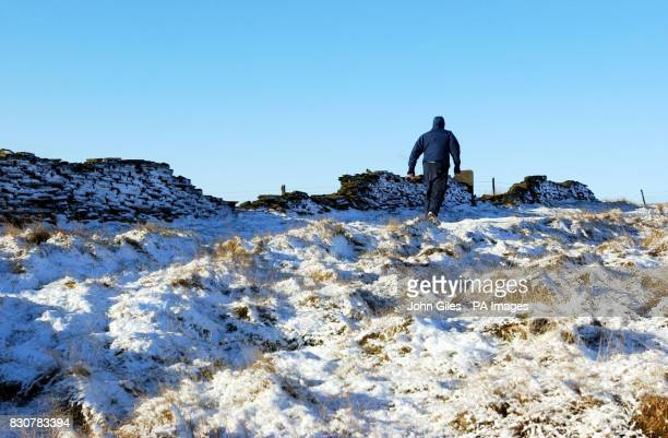 Snow covers Saddleworth Moors after Moors murderer Ian Brady said he would return to the moor to help try and find the body of Keith Bennett Police...