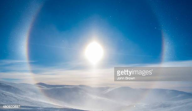 'Snow Dog' surrounding the sun, Eagle Summit, AK