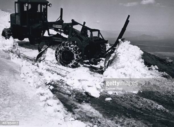 Snow ***** gets to 1620 ft depth operator of grader is Justin Bonnichsen Credit Denver Post