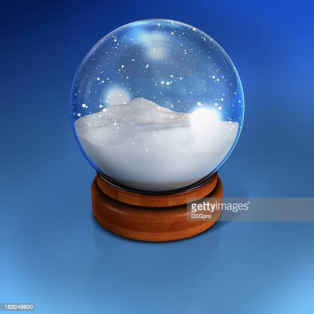 Snow globe containing nothing but snow