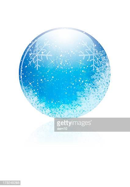 Bola de Cristal com Neve