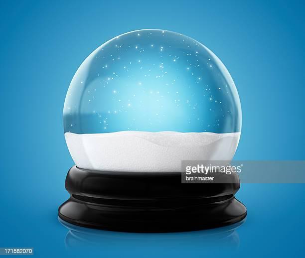 Globo de neve de Inverno (Traçado de Recorte)