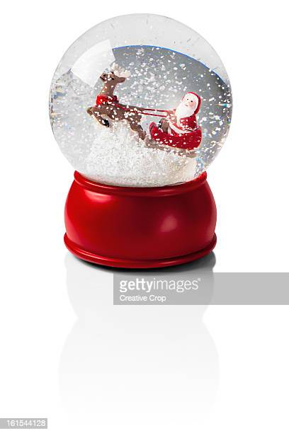 Snow globe with Santa and his sleigh