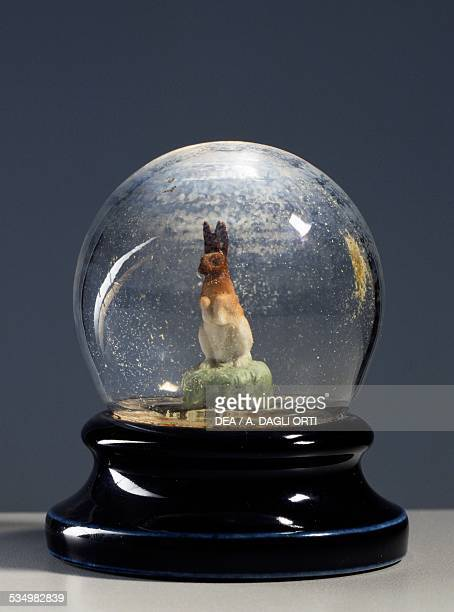 Snow globe with snow and a rabbit Italy 20th century