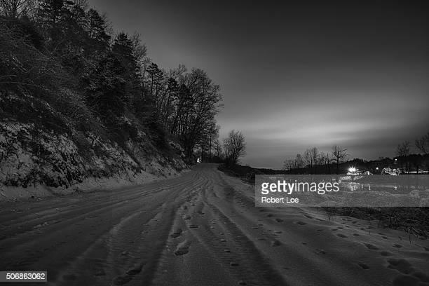 Snow Glow Black and white