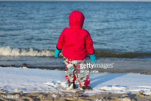 Snow in spring : Stock Photo