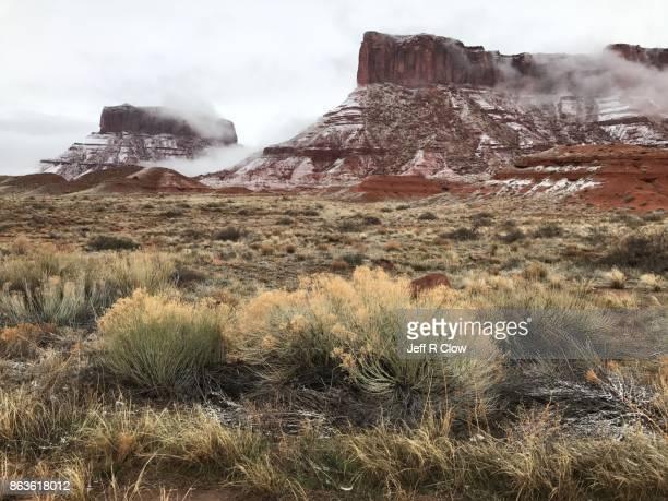 Snow in the Utah Red Rocks