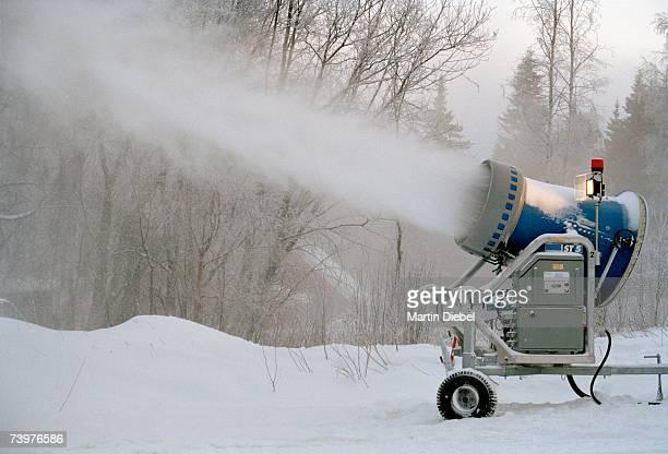 Snow machine making snow