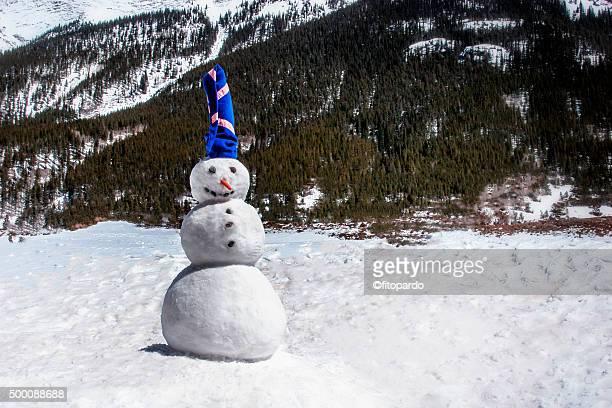 Snow man in Colorado