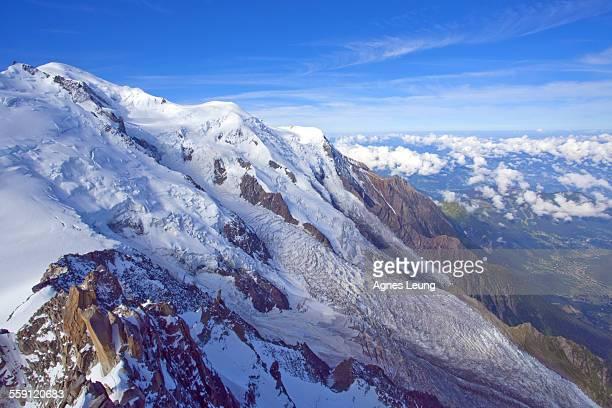 Snow mountain ranges of Mont Blanc, Chamonix