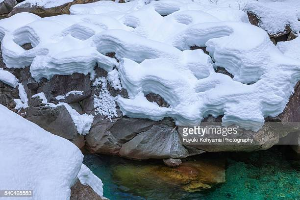 Snow of the Atera valley, Japan, Nagano Prefecture