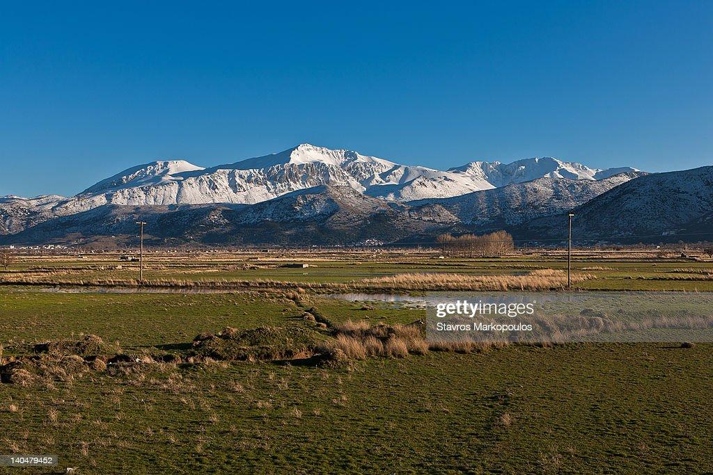 Snow on mount Dikti : Stock Photo