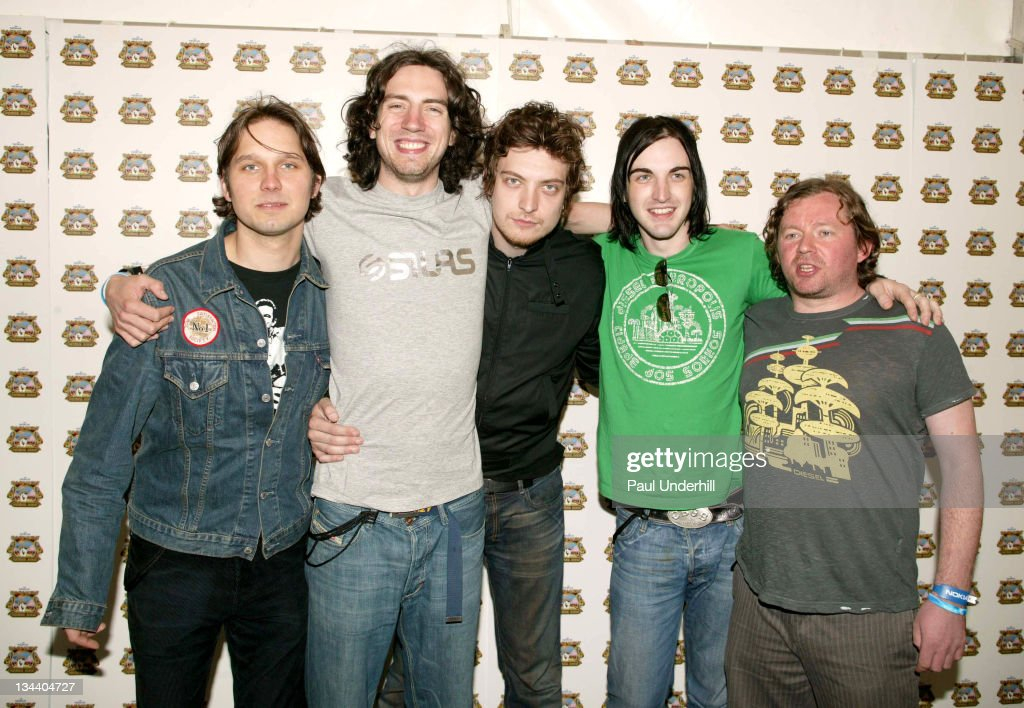 Snow Patrol during 2005 Isle Of Wight Festival - Day 3 - Backstage at Seaclose Park in Newport, Great Britain.