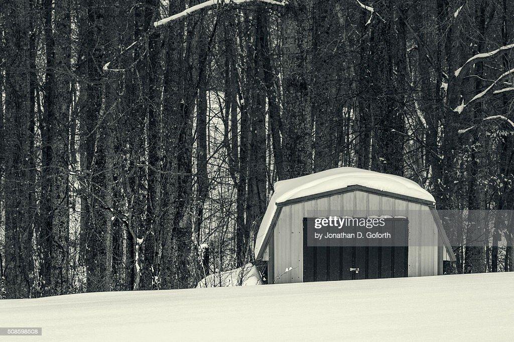Snow Shed : Foto de stock